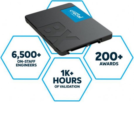 Crucial BX500 2.5in SATA SSD 240GB [CT240BX500SSD1]