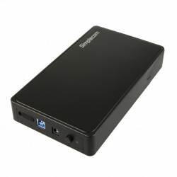 "Simplecom SE325 Tool Free 3.5"" SATA HDD to USB 3.0 Hard Drive Enclosure PC--SE325-BLK"
