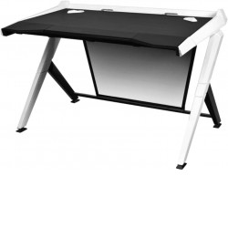 DXRacer 1000 Series Black & White Gaming Desk GD/1000/NW