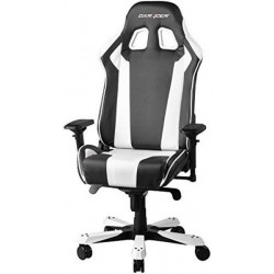 DXRacer King KS06 Black & White Gaming Chair - Neck/Lumbar Support OH/KS06/NW