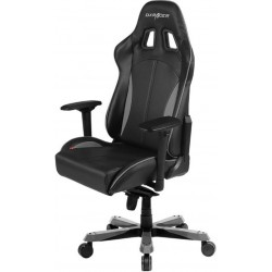 DXRacer King KS57 Gaming Chair - Neck/Lumbar Support Black & Carbon Grey OH/KS57/NG