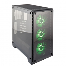 Crystal Series 460X RGB Compact Tempered Glass ATX Case CC-9011101-WW(460X-RGB)