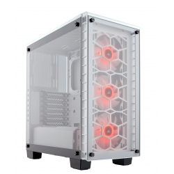 Crystal Series 460X RGB Compact Tempered Glass White ATX Case CC-9011129-WW(460X-RGB-WH)