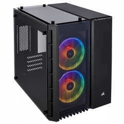 Crystal Series 280X RGB Tempered Glass Black MicroATX Case CC-9011135-WW(280X-RGB-BLK)