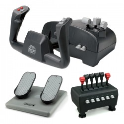 CH Products Captains Pack (inc. Yoke, Quad Throttle & Pedals) CH-CAPTAIN