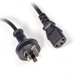 Computer Power Cable - C13 IEC AU - 2M PC--3PIECAU
