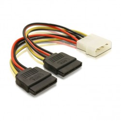 Molex to 2x SATA Cable