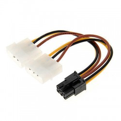 2x Molex to 6-pin PCI-Express Power Cable PC--2xM-6PCIE