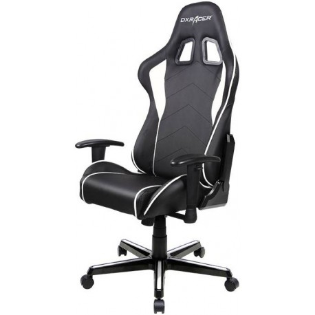 Surprising Dxracer Formula Fl08 Gaming Chair Sparco Style Neck Lumbar Support Black White Photech Computers Machost Co Dining Chair Design Ideas Machostcouk