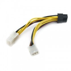 2x 6-Pin PCI-Express to 8-pin PCI-Express Power Cable