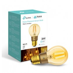 TP-Link KL60 Kasa Filament Smart Bulb, Warm Amber, Edison Screw, Dimmable, No Hub Required,Voice