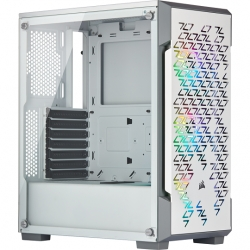 CORSAIR iCUE 220T RGB Airflow Tempered Glass White ATX Case