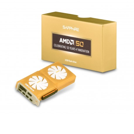 SAPPHIRE AMD USB 3.0 Flash Drive 32GB, Special Edition 50TH Anniversary Promo, Limited Edition