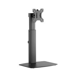 "Brateck Single Screen Pneumatic Vertical Lift Monitor Stand Fit Most 17""-27"" Flat and Curved Monitors Up to 7 kg per screen"