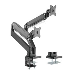 Brateck Dual Monitors Aluminum Heavy-Duty Gas Spring Monitor Arm Fit Most 17'-35' Monitors Up
