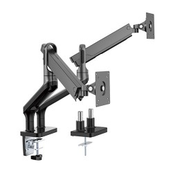 """Brateck Dual Monitor Premium Aluminum Spring-Assisted Monitor Arm Fit Most 17""""-32"""" Flat Panel and Curved Monitors Up to 9kg per"""