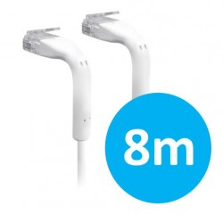 UniFi patch cable with both end bendable RJ45 8m - White UC-Patch-8M-RJ45
