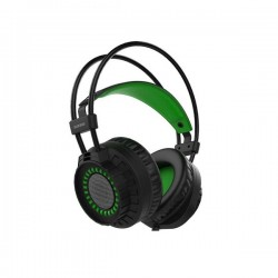 Verico Element G G330 USB & 3.5mm Green LED Headset VER-ELEMENTG-G330