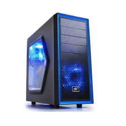 Deepcool Tesseract SW Black & Blue ATX Case DP-CCATX-TSRBKBL